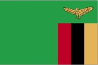 Zambia 3X5' Solar-Max Dyed Nylon Outdoor Flag