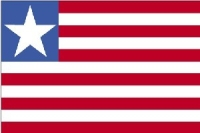 Liberia 3X5' Solar-Max Dyed Nylon Outdoor Flag