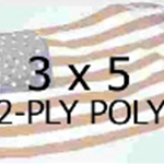 US 3 X 5' 2-Ply Polyester Outdoor Flag