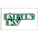 Our Father's Day flag is made of outdoor quality, durable nylon and finished with canvas heading and grommets. It reads correctly on one side, reverse on the other.  Easy to mount on any standard pole.  Size: 3 x 5'.