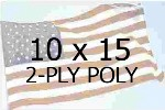 US 10 X 15' 2-PLY POLYESTER OUTDOOR FLAG