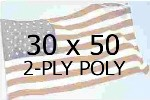 US 30 X 50' 2-PLY POLYESTER OUTDOOR FLAG