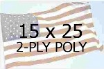 US 15 X 25' 2-PLY POLYESTER OUTDOOR FLAG