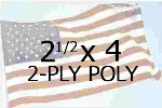 US 2-1/2 X 4' 2-PLY POLYESTER OUTDOOR FLAG