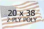 US 20 X 38' 2-PLY POLYESTER OUTDOOR FLAG
