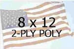 US 8 X 12' 2-PLY POLYESTER OUTDOOR FLAG