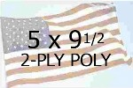 US 5 X 9-1/2' 2-PLY POLYESTER OUTDOOR FLAG