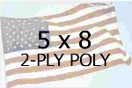 US 5 X 8' 2-PLY POLYESTER OUTDOOR FLAG