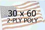 US 30 X 60' 2-PLY POLYESTER OUTDOOR FLAG